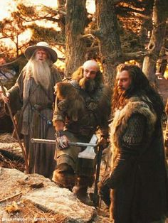 The Hobbit : An Unexpected Journey - Gandalf, Dwalin, and Thorin The Hobbit Movies, O Hobbit, Hobbit Hole, Hobbit Art, Thranduil, Legolas, The Misty Mountains Cold, Concerning Hobbits, Desolation Of Smaug