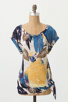 Island Macaws Tee #anthropologie love the print and colours loose shape perfect for summer...