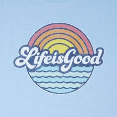 Life Is Good® Men's Sunny Waves Cool Tee Lightened-up with a laidback feel, the Life Is Good® Classic Fit Cool Tee is garment washed for softness and cut to barely skim the body, with a printed graphic and ladder stitching details. Shop more Life Is Good® Tumblr Wallpaper, Wallpaper Quotes, Neon Wallpaper, Iphone Wallpaper, Surfergirl Style, Apple Watch Wallpaper, Good Vibe, Happy Words, Lettering Styles