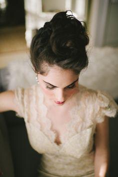 Elegant Ivory Lace Wedding Gown - Elizabeth Anne Designs: The Wedding Blog