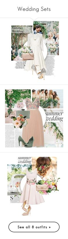 """Wedding Sets"" by virginia-laurie ❤ liked on Polyvore featuring Phase Eight, Badgley Mischka, LC Lauren Conrad, STELLA McCARTNEY, vintage, Neville, Needle & Thread, Judith Leiber, Gucci and Quiz"