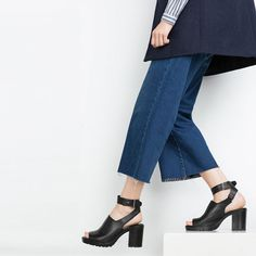Image 2 of LEATHER SANDALS WITH TRACK SOLE from Zara