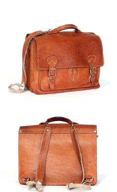 Messenger bag leather backpack leather rucksack leather school bag