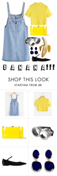 """""""minion style 💙💛"""" by jackandalice ❤ liked on Polyvore featuring Rocio, Despicable Me, Repetto, Kenneth Jay Lane, Halloween, yellow, Blue, Minion and throw"""