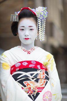Maiko, Ichiyui of Pontocho.September 2015 先斗町 - ある日の一コマ