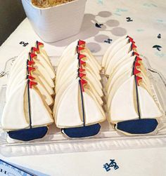 sailboat cookies #popsbykristina.  Would make them with light green accent instead.