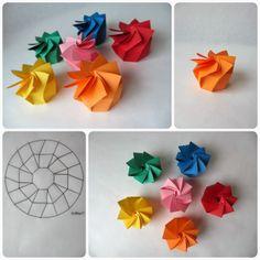 Boîte en spirale origami ***