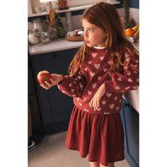 Coton Bio, Heart Print, Textiles, Stripes Design, Organic Cotton, Cold Shoulder Dress, Mini Skirts, Sweatshirts, Long Sleeve