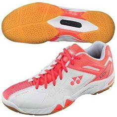 Yonex Women's Power Cushion SHB-SC5 LX Badminton Shoe-Coral Orange *** You can get more details at http://www.amazon.com/gp/product/B00TT4LYBC/?tag=passion4fashion003e-20&jk=290716042600