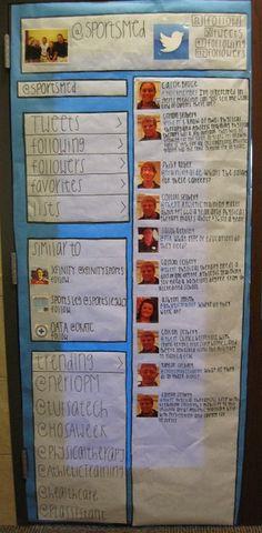 HOSA Week - student decorated classroom door