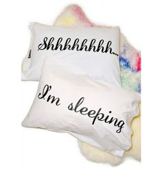 Jac Vanek Shhh I'm Sleeping Pillowcases