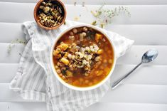 North African Squash & Chickpea Soup