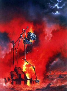 LES EDWARDS - art for The War of the Worlds by H. G. Wells - Bantam Books