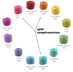 Great tutorial on how to choose yarn colors based on the color wheel