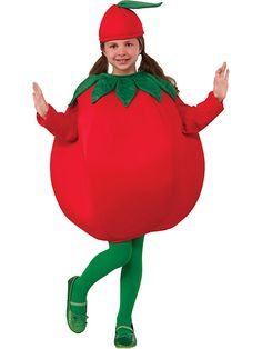 Kid's Tomato Costume - http://halloweensupplycenter.com/kids-tomato-costume/