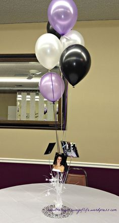 Image result for backyard open house centerpiece balloon bouquet pictures