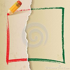 Vintage Background with pencil outline