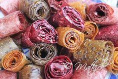 Matkick: Fruktremmar – godis för den kräsna Healthy Candy, Healthy Snacks, Fruit Roll Ups, Candy Cookies, Raw Desserts, Homemade Candies, Happy Foods, Confectionery, Frozen Yogurt