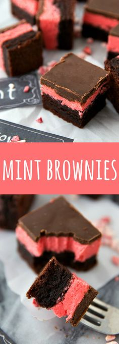 Easier (foolproof!) peppermint brownies with a thick layer of frosting and a soft minty chocolate topping.