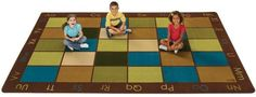 Nature's Colors Classroom Seating Rug 7'6 x 12 | SensoryEdge - Waiting Room Toys…