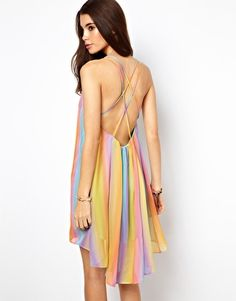 Rainbow swing dress