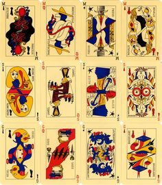 """"""" Le Jeu de Marseille, also known as the Surrealist card deck, was conceived and created in by André Breton and a group of his Surrealist friends (Wifredo Lam, Max Ernst,. Max Ernst, China Mieville, History Of Paper, Victor Brauner, Art Carte, Draw On Photos, New Paris, Illustrations, Deck Of Cards"""