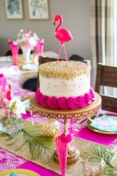 Host the ultimate girly party this summer a Flamingle Sprinkle! Shop all of the perfectly pink decorations needed to throw a successful flamingo party! Pink Flamingo Party, Flamingo Baby Shower, Flamingo Birthday, Shower Baby, Girl Shower, Baby Shower Cake For Girls, Baby Showers, Pink Flamingos, Sprinkle Party