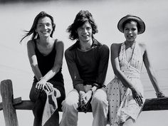 Go Inside Andy Warhol's Montauk Retreat | From left, Lee Radziwill, Mick Jagger and Bianca Jagger relax at the beachfront property.