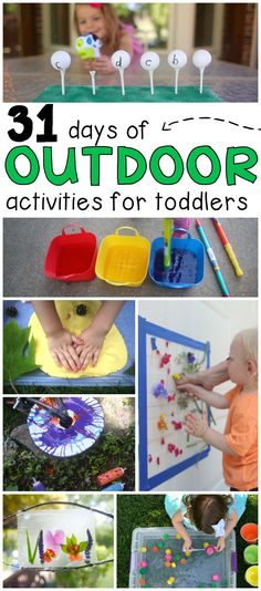 Looking for fun and meaningful ways to spend time outdoors? Check out our 31 Days of Outdoor Activities for Toddlers and preschoolers!