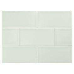 "Complete Tile Collection Vermeere Ceramic Tile - Serene Green - Gloss, 3"" x 6"" Manhattan Ceramic Subway Tile, MI#: 199-C1-313-041, Color: Serene Green"