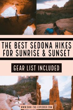 Best Sedona Hikes For Sunset and Sunrise - Dani The Explorer Arizona Travel, Arizona Trip, Vacation Destinations, Vacation Ideas, Sedona Hikes, Best Sunset, Oh The Places You'll Go, Hiking Trails, How To Find Out