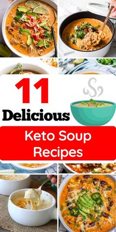 Quick Soup Recipes, Easy Dinner Recipes, Breakfast Recipes, Easy Meals, Fast Healthy Meals, Easy Healthy Recipes, Keto Recipes, Vegetarian Soup, Keto Soup