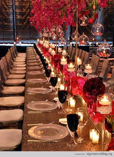 table setting. centerpiece. love this!