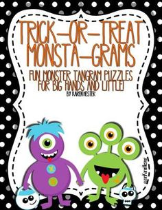 Halloween:Trick-or-Treat+Monsta-Grams+from+Little+Smarticle+Particles+on+TeachersNotebook.com+-++(7+pages)++-+Fun+Halloween+monster+tangram+puzzles+in+two+different+sizes.+Great+for+big+hands+and+lttle!