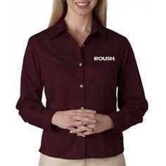 ROUSH Ladies Wine Long Sleeve (1878), $37.99 (http://store.roushcollection.com/roush/roush-ladies-wine-ls/)