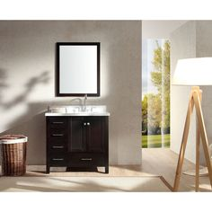 Enjoy luxurious style with this beatiful bathroom vanity. Featuring a espresso finish, this set is sure to enhance the look of your home.