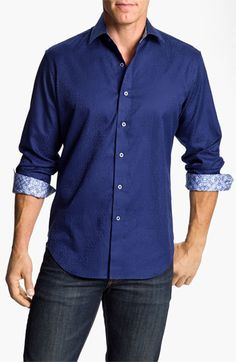 Robert Graham 'Windsor' Sport Shirt available at #Nordstrom I love how the paisley is subtle but there.