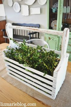 Diy planter, old magazine rack. Great for the porch!