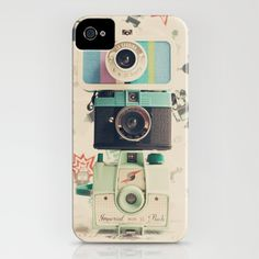 Three is the magic number, Mint Retro Cameras iPhone & iPod Case