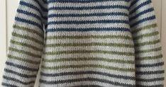 Stribet Lama er en strikkeopskrift på klassisksweater med striberog raglanærmer.  Modellen er let strikkelig, også for begyndere...