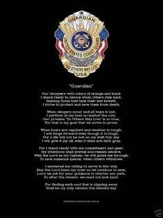 Guardian So Others May Live Military USCG Coast Guard Memorial Poem Poster