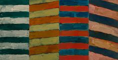 Sean Scully Slope, 2014 Oil on aluminum 110 x 213 1/3 in. 279.5 x 542 cm