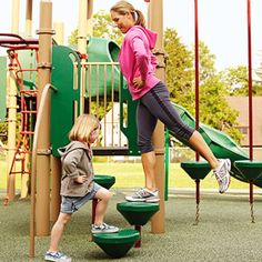 A perfect workout for parents at the playground. The kids can try it or help out, too!