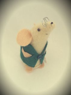 A Handmade felt mouse a perfect gift for a mouse by AsNiceAsMice, £10.00