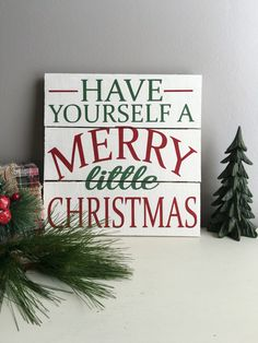 Have Yourself a Merry Little Christmas Wood Sign - Christmas Decoration - Holiday Decor - Christmas Song Sign - Christmas Signs by EastCoastChicagoan on Etsy https://www.etsy.com/listing/460297354/have-yourself-a-merry-little-christmas