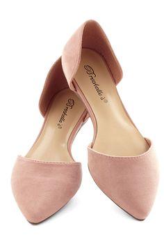 Flats color rosa con punta