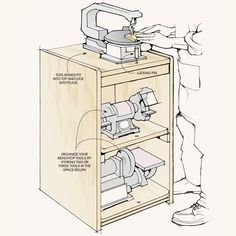 Space-Saving Tool Stations: Maximize your workshop space and work more efficiently with these helpful ideas. Space-Saving Tool Stations Source by The post Space-Saving Tool Stations appeared first on Cassidy Woodworking. Garage Workshop Organization, Garage Tool Storage, Workshop Storage, Garage Tools, Workshop Ideas, Wood Workshop, Wood Shop Organization, Woodworking Organization, Garage Plans