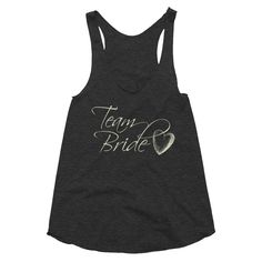 Team Bride w/ Heart - Bridal Party - Women's racerback tank