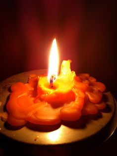 The glow from a candle