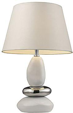 "0-008998>19""""h Elemis Table Lamp White/Chrome"